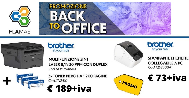 Promozione Flamas back to office